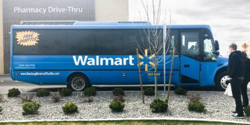 Rexburg Walmart Shuttle at the dropoff location