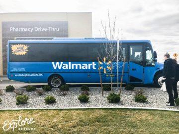 Rexburg Walmart Shuttle at the dropoff location