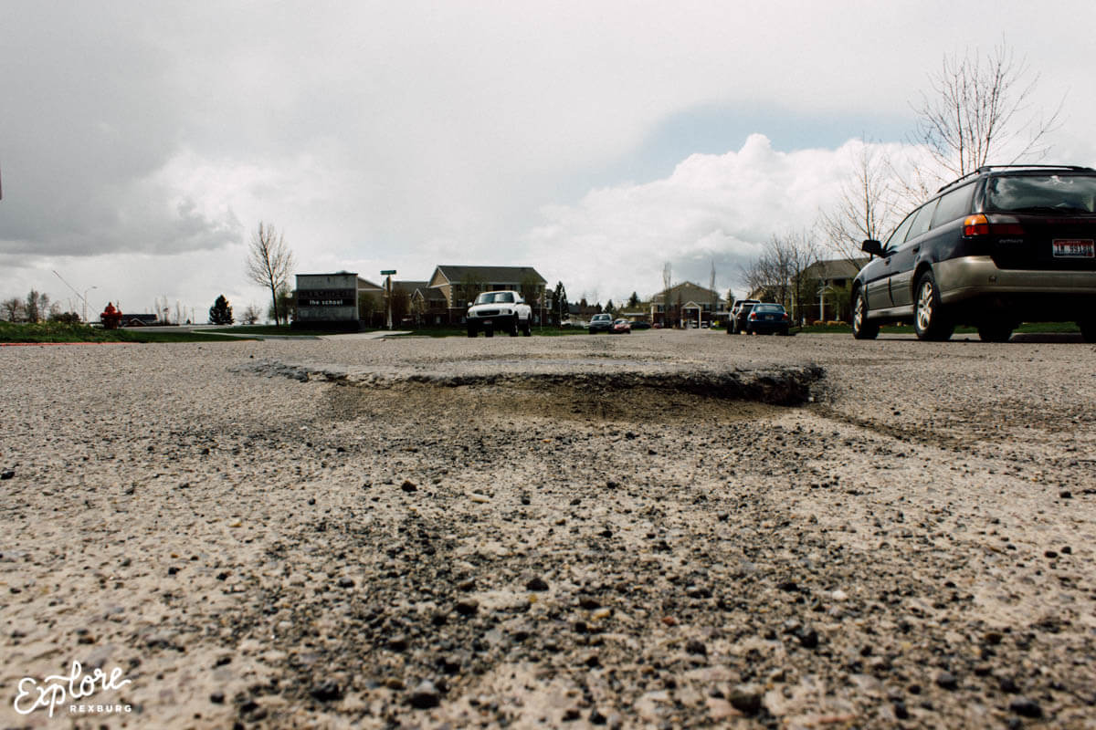 Rexburg pothole