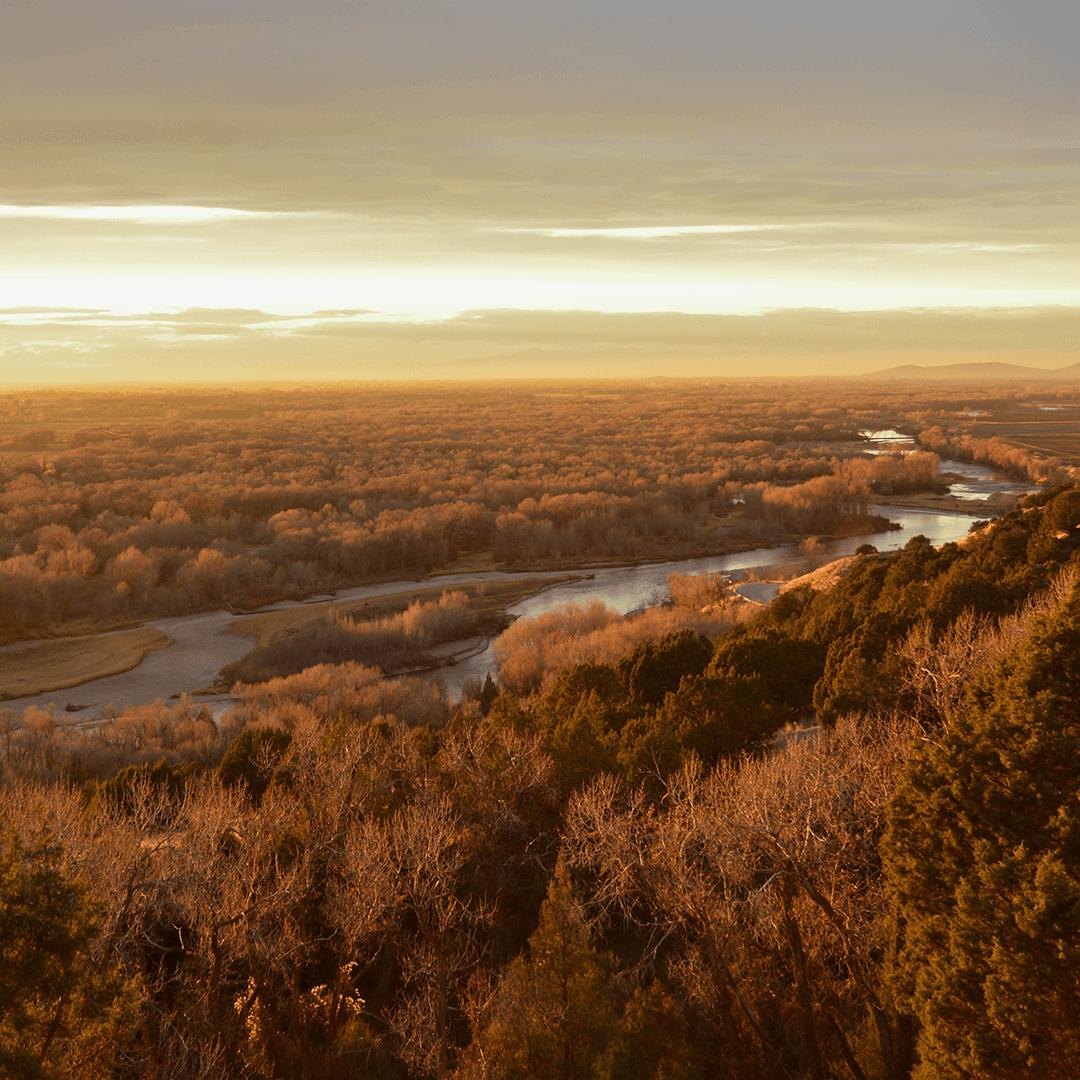 Sunset over Cress Creek