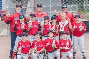 Trophy winners from last year's Madison Baseball Tournament.