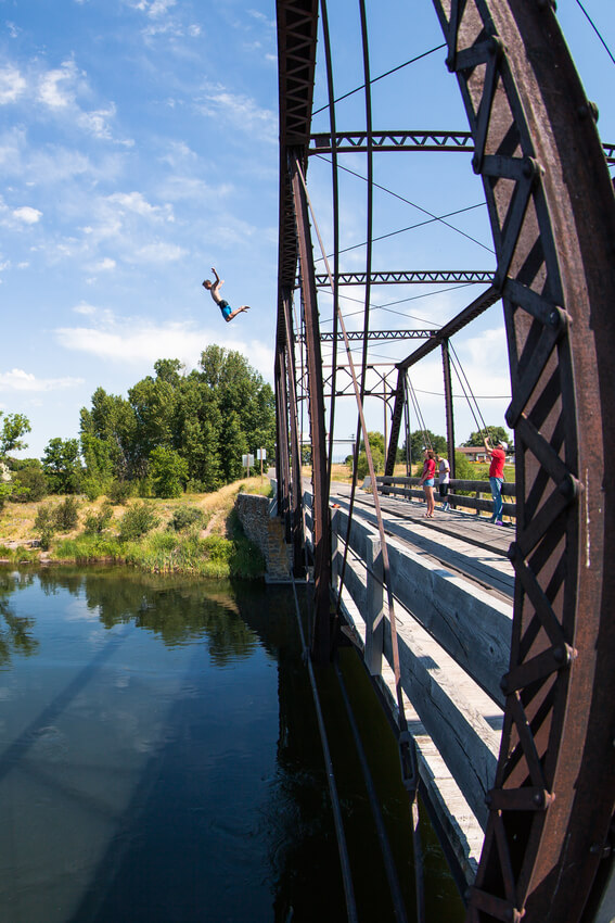 fun farm bridge jumping