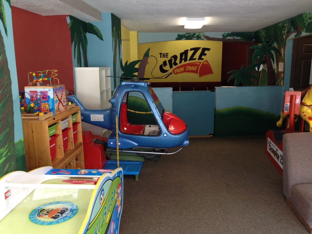 The Crazy Kiddie Jungle is a great place for kids to play at The Craze.