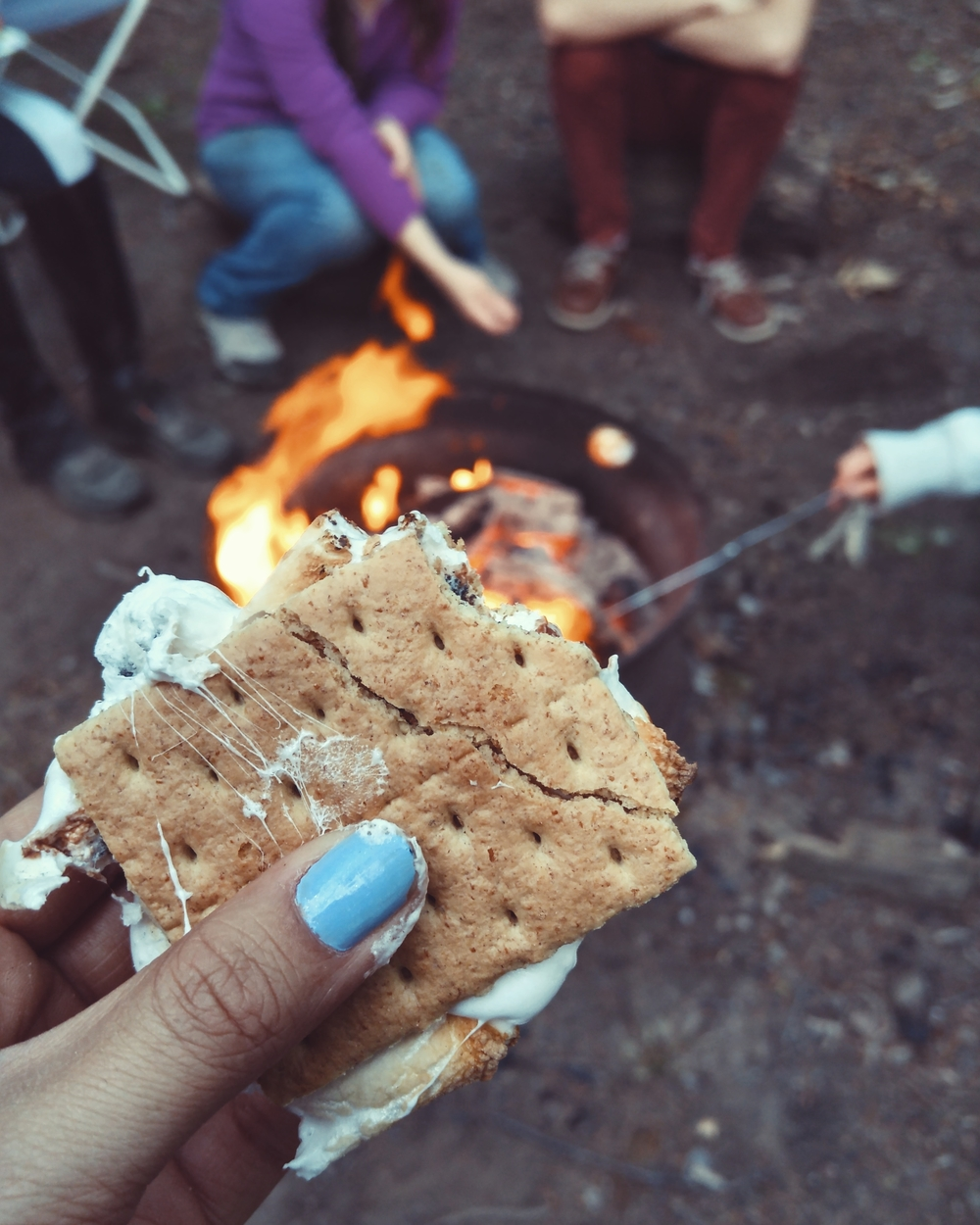 Change out the ingredients of your s'mores if you're feeling saucy.