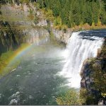 Hiking at Mesa Falls is one of the fun fall festivities in Rexburg.