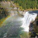 Hiking at Mesa Falls is one of the fun fall festivities in Rexburg.