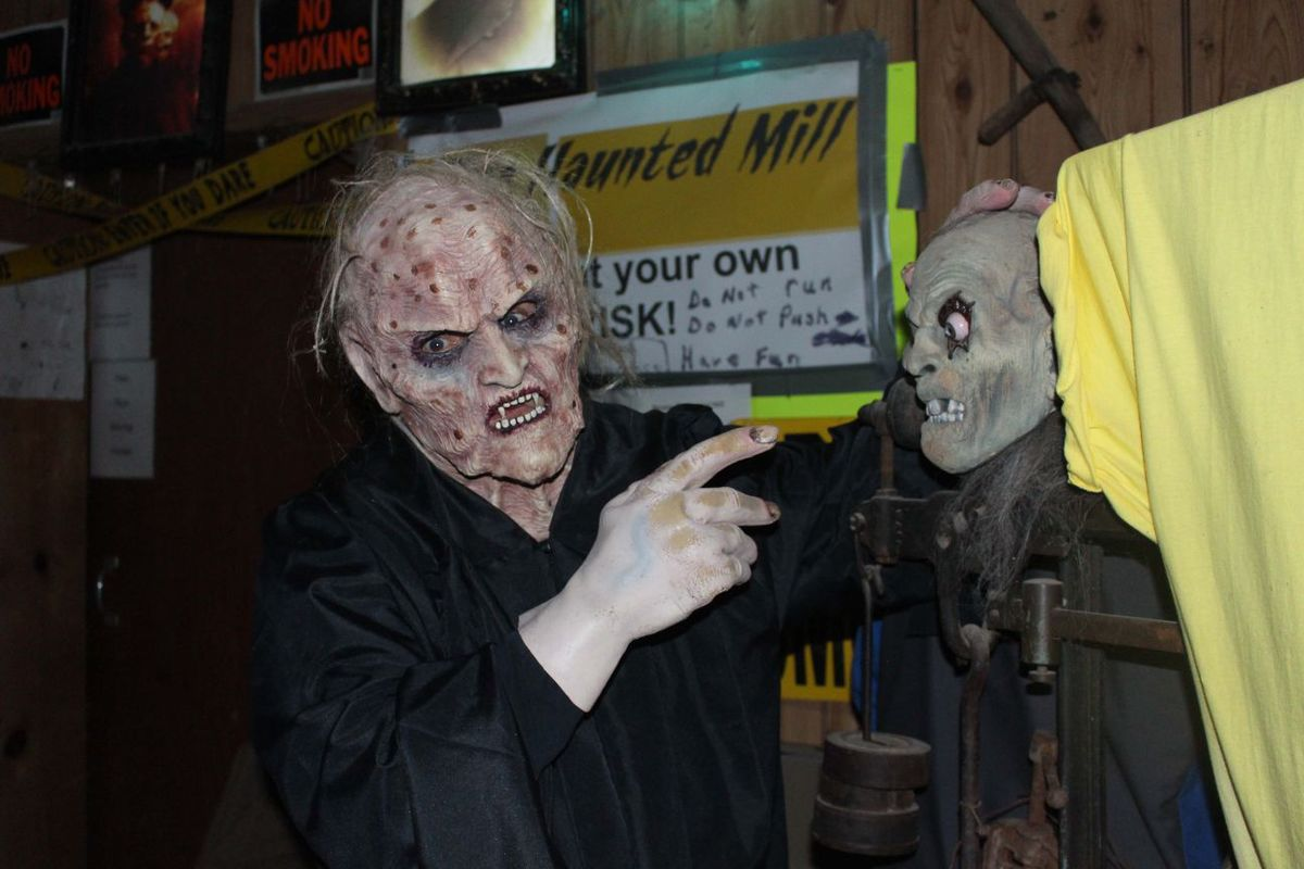 Haunted Mill is one of the haunted houses.