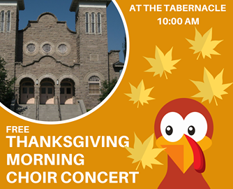 Enjoy a free Rexburg Thanksgiving concert at the Rexburg Tabernacle.