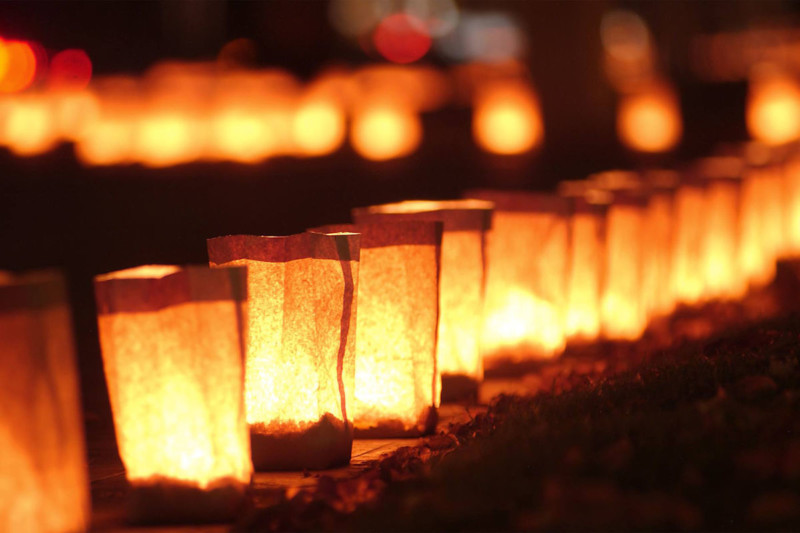 Make one of your Christmas traditions lighting luminaries for Santa's sleigh.