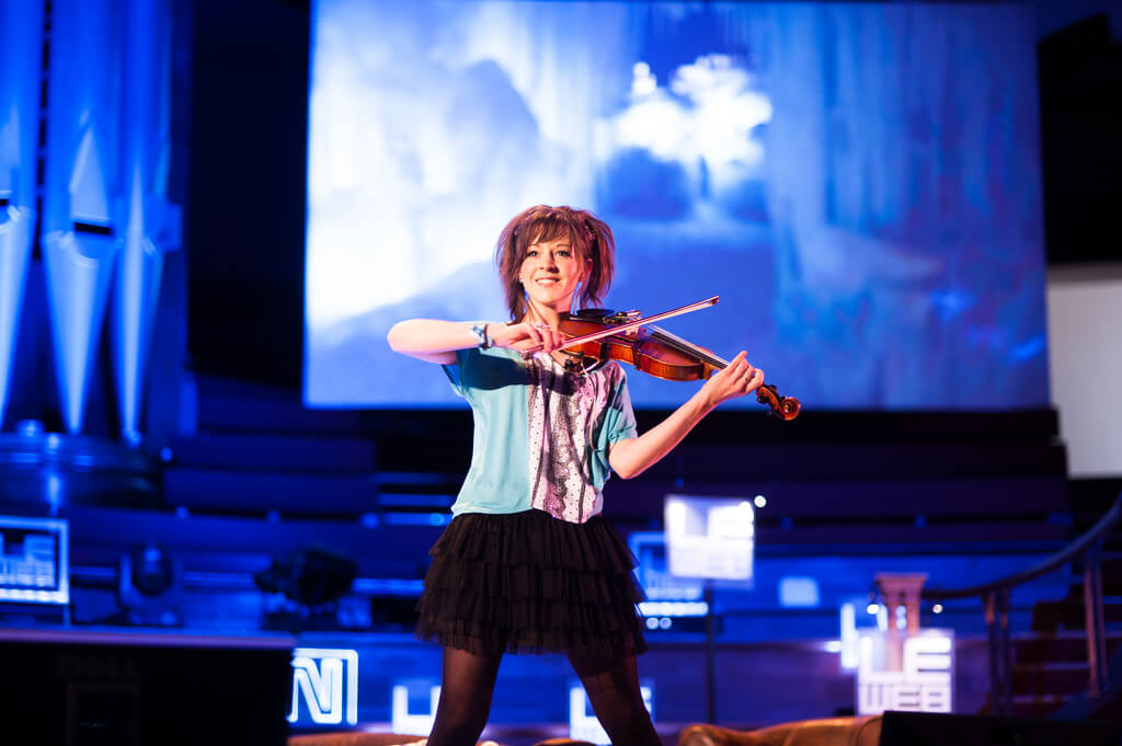 Lindsey Stirling blends modern classical with electronic music.
