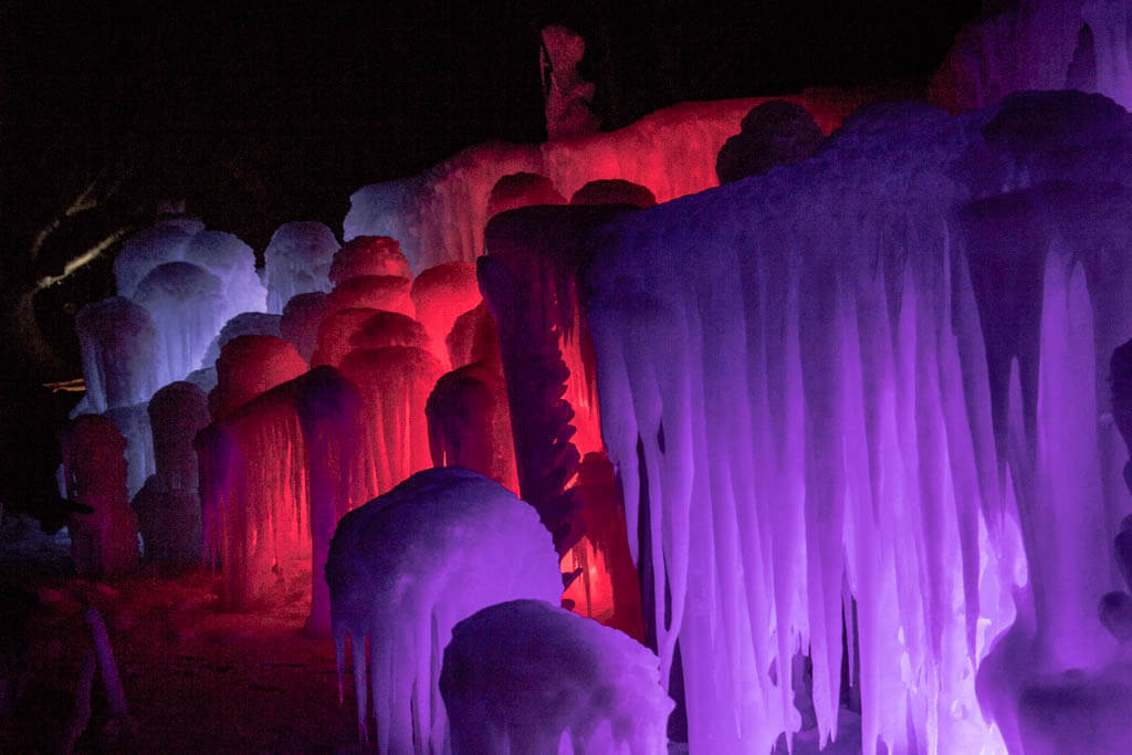 The Labelle Lake Ice Palace is only open until the ice melts.