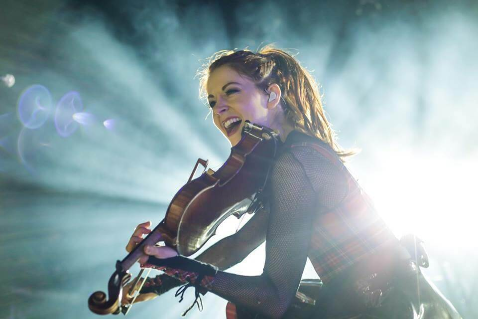 Lindsey Stirling performing in Mexico.