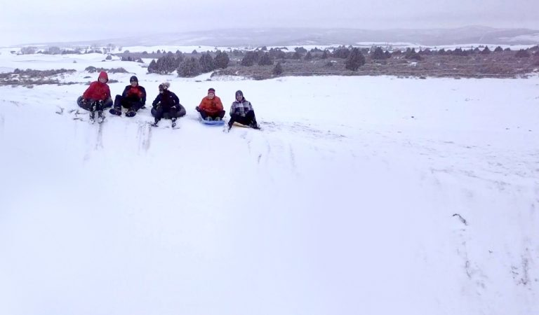 Sledding at the St. Anthony Sand Dunes