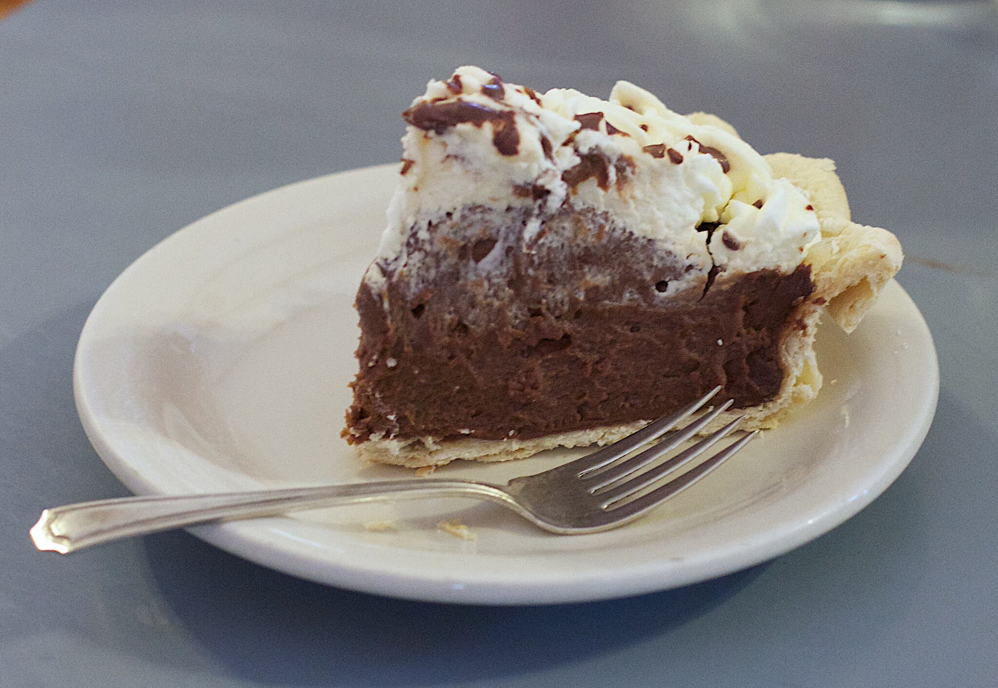 Chocolate Cream Pie - perfect for Pi Day.