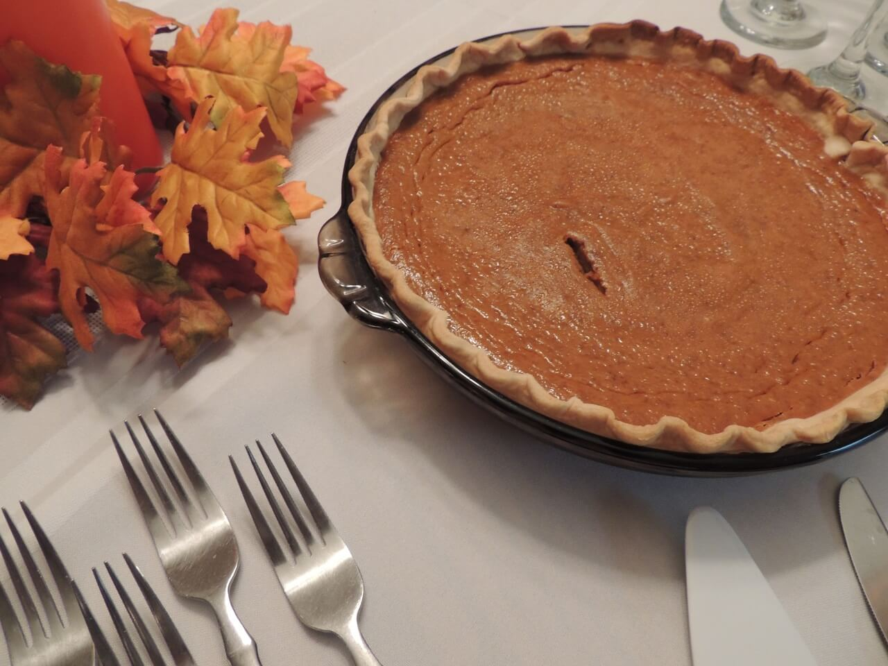 Pumpkin Pie - perfect for Pi Day.