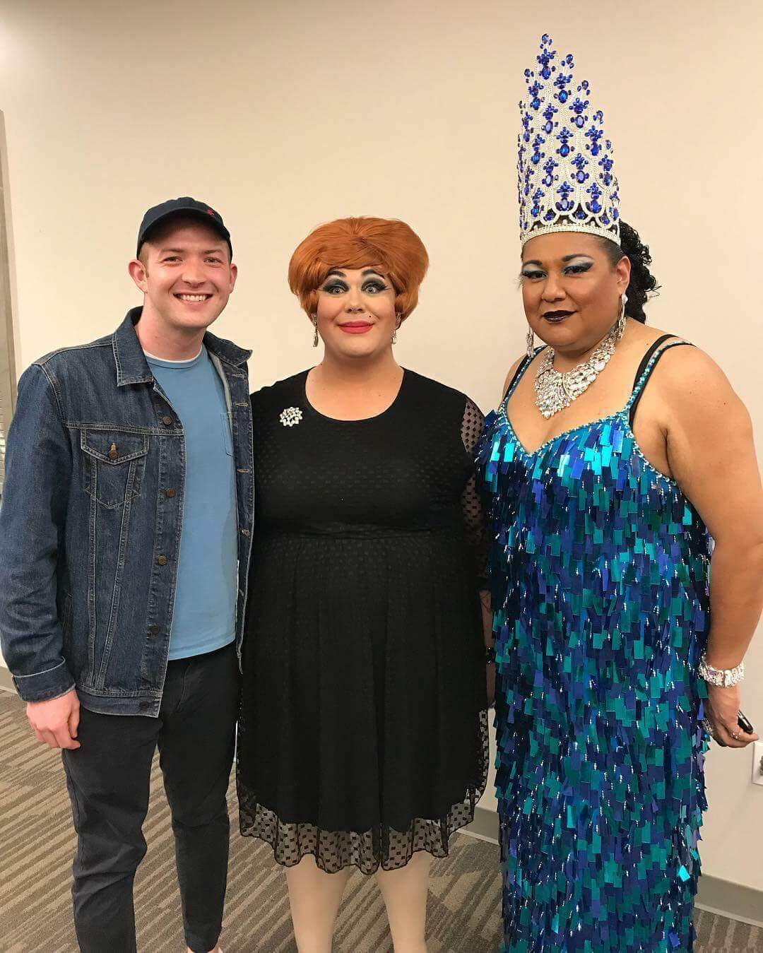 participants and attendees of drag night