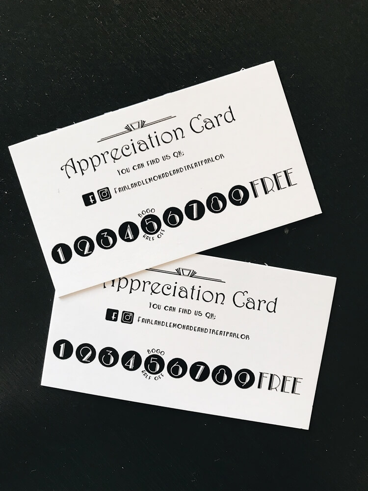 punch cards for fair land