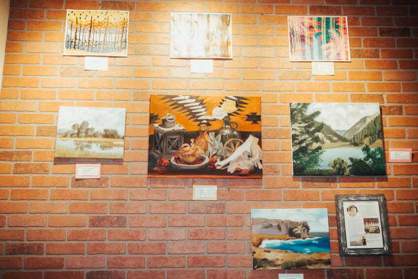 Local Rexburg art at June's Place Grand Opening