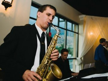 Saxophonist in the Rexburg jazz scene
