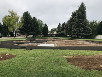 Rexburg Park St Park coming along nicely