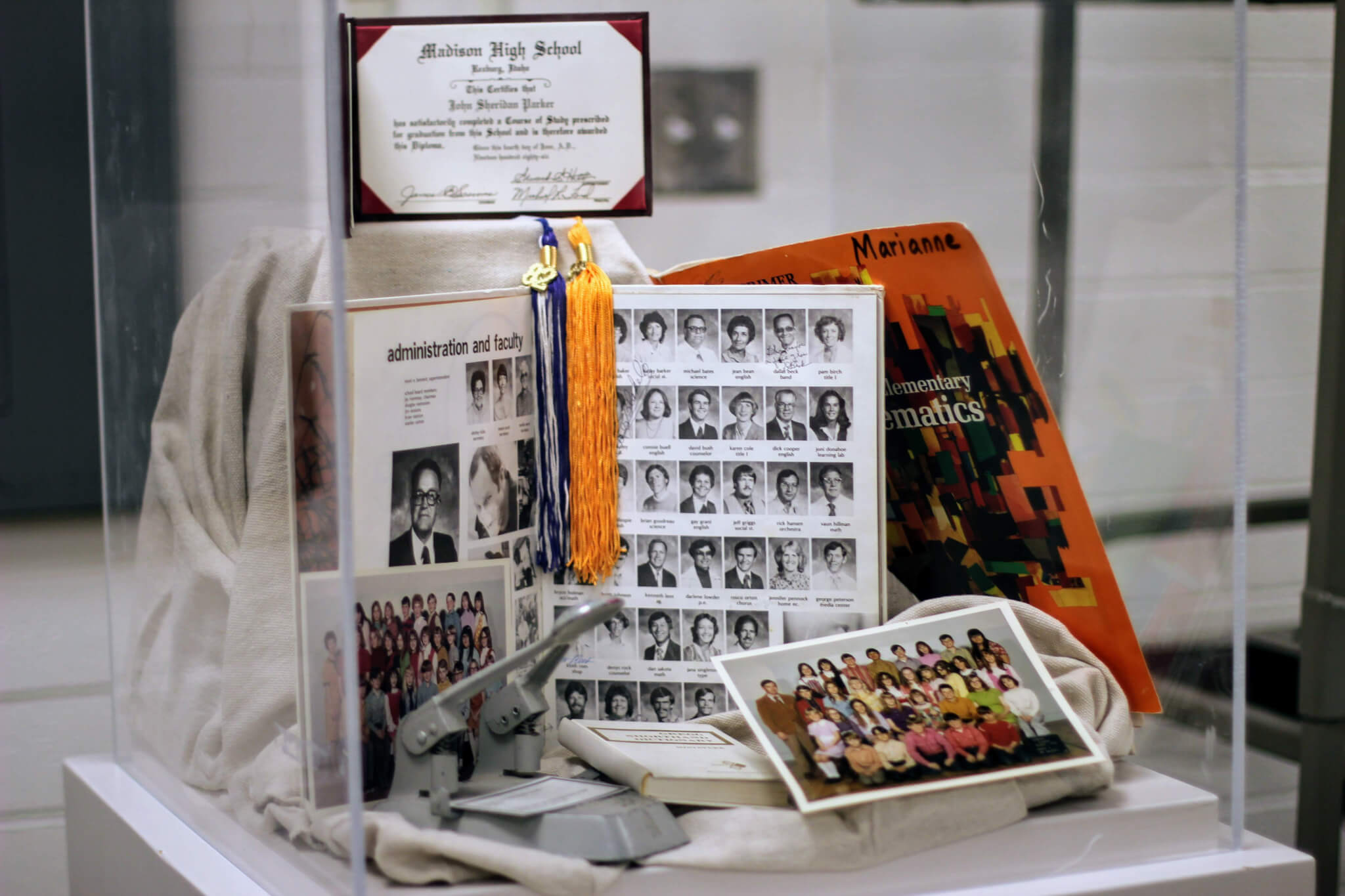 Special Collections exhibit includes memorabilia from several decades