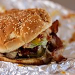 T-Rex Burgers burger