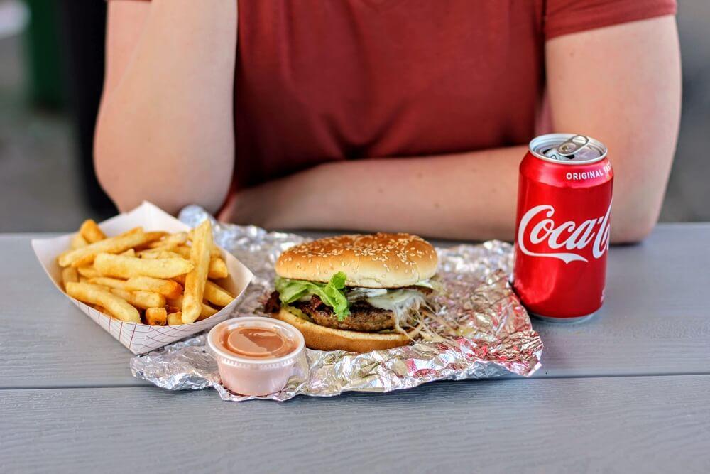 A T-Rex Burgers combo