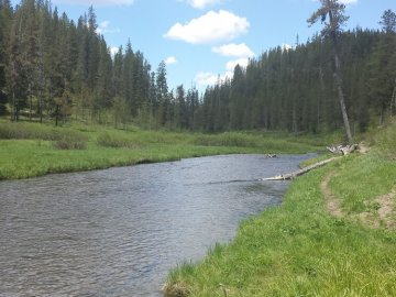 Warm River in Southeast Idaho has a great biking trail