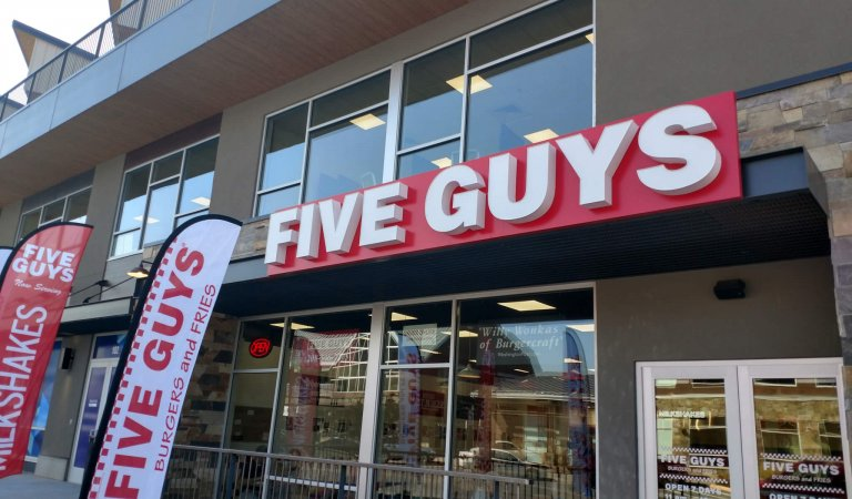 Five Guys Burgers and Fries shows up and shows out