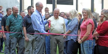 Hemming Village ribbon-cutting