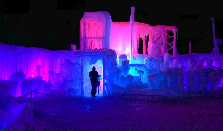 LaBelle Lake Ice Palace Perfect Winter Activity
