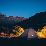 Tent camping in the Idaho outdoors