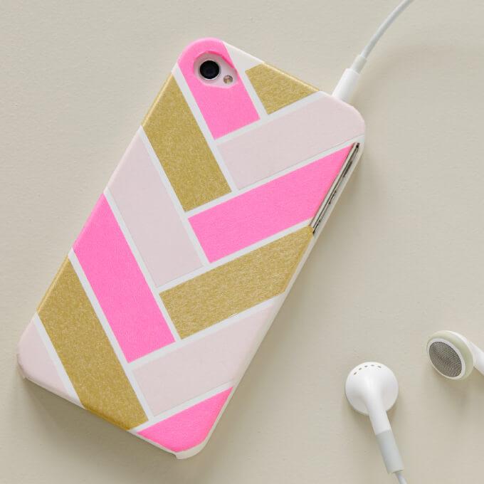 DIY Christmas_Washi_Tape_Phone_Case