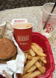 Red Robin free birthday burger and fries