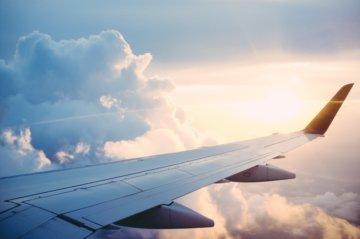 Plane Wing Travel Destination